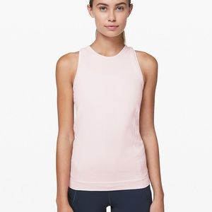 NWOT Lululemon Pink For the Thrill Workout Tank